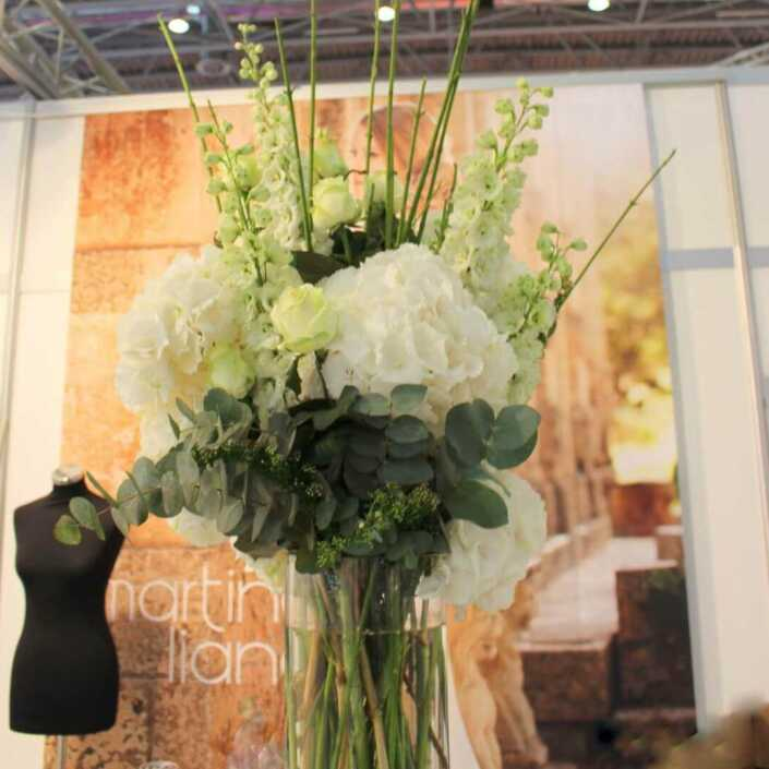 Blumen - Messestand