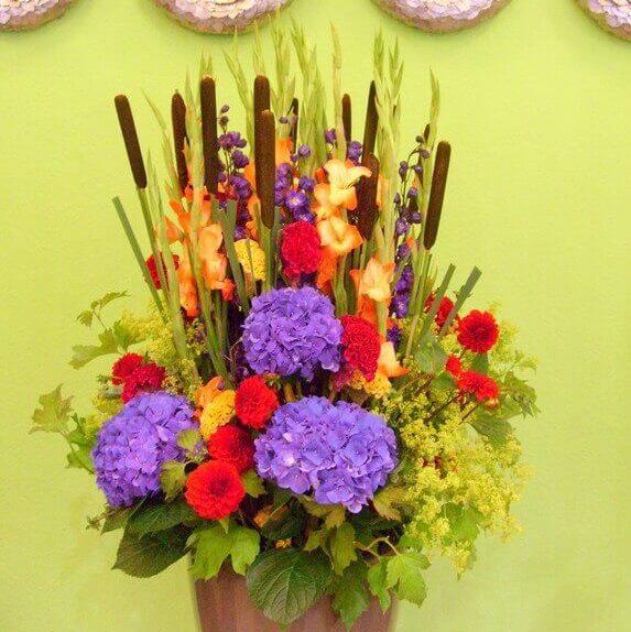 Bodenvasen - Blumenfüllung A