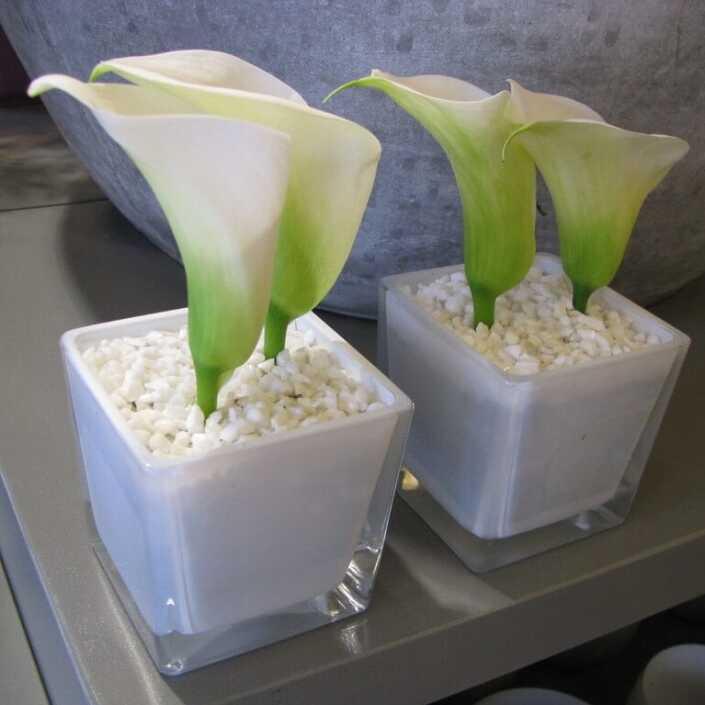 Messe - Stehtisch - Blumen a