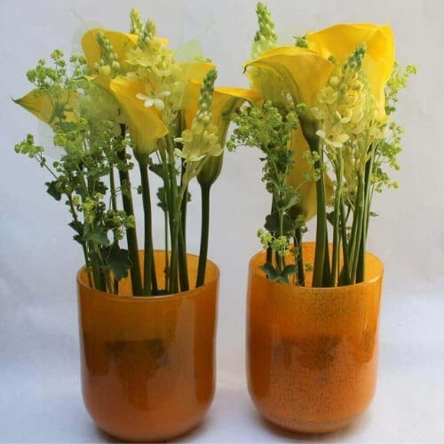 Messe-Dekoration mit Calla-Blüten