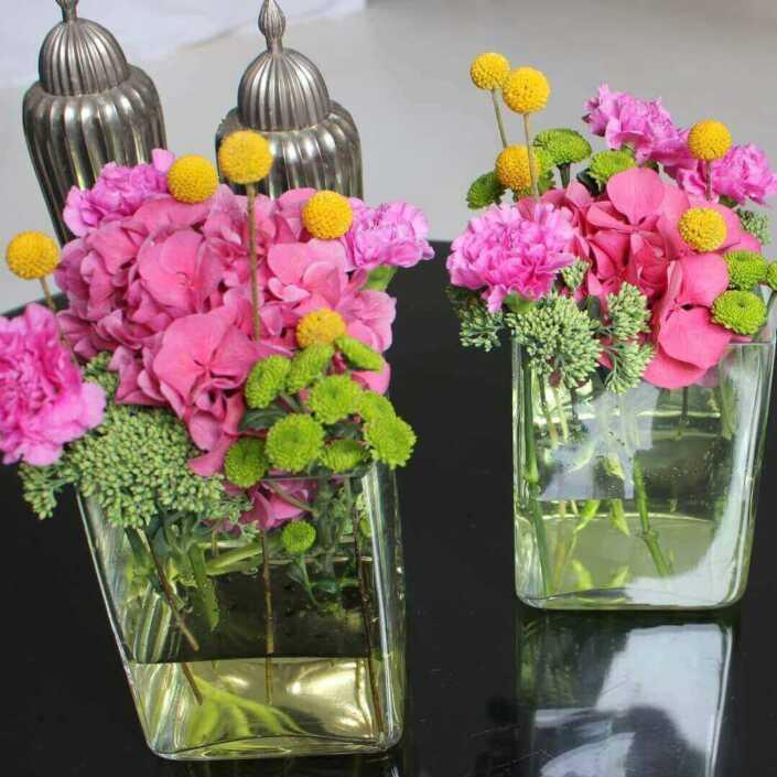 tehtisch - Event - Blumen - Dekoration