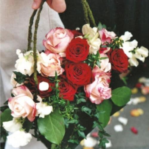 Blumenkorb - Hochzeitsblumen