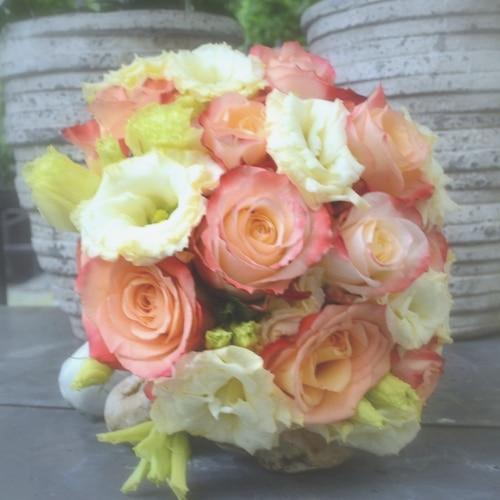 Brautstrauß mit Rosen und Lysianthus - Blüten A