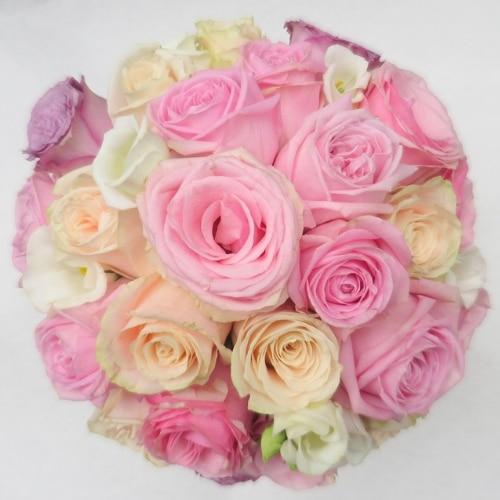 Brautstrauß mit Rosen und Lysianthus - Blüten
