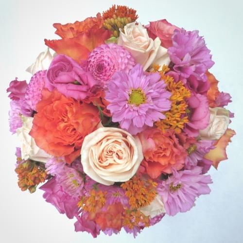 Brautstrauß mit Sommerblumen