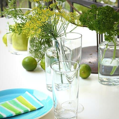 Sommerliche Tischdekoration 1