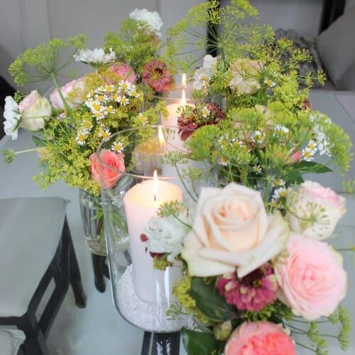 Tischdekoration mit Rosen 2