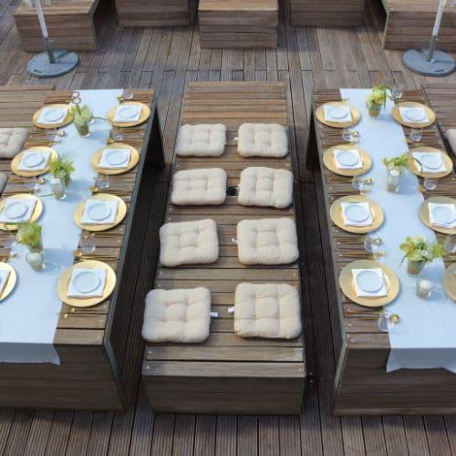 Tischdekoration mit Orchideen - Blüten 5