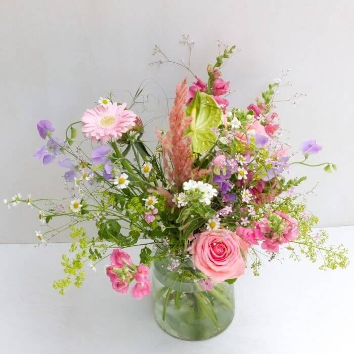 rosa Sommerblumenstrauß Style
